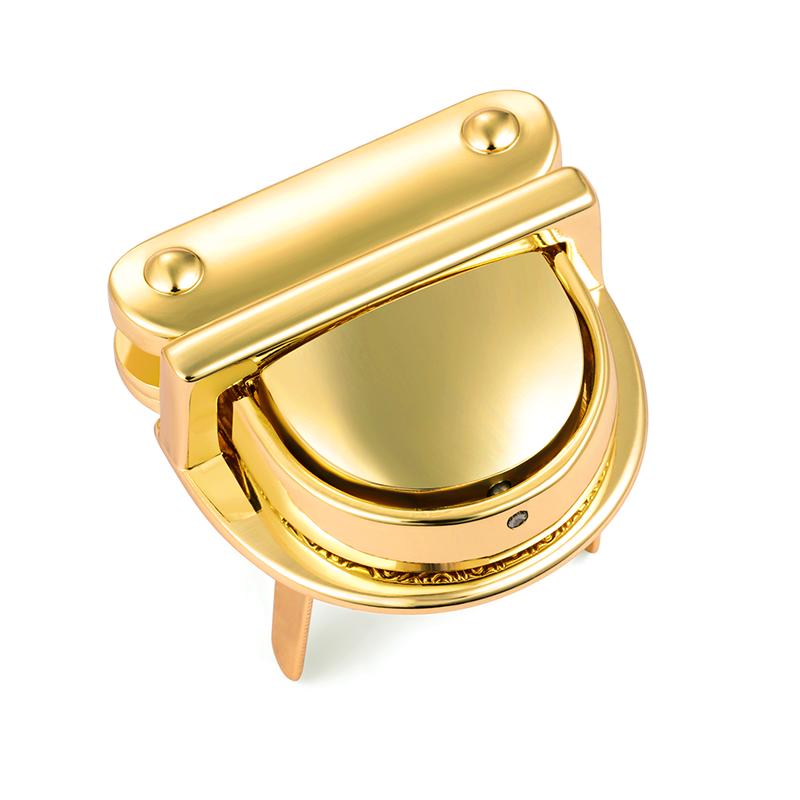 31.5mm*30.3mm Gold color vogue lock for handbag
