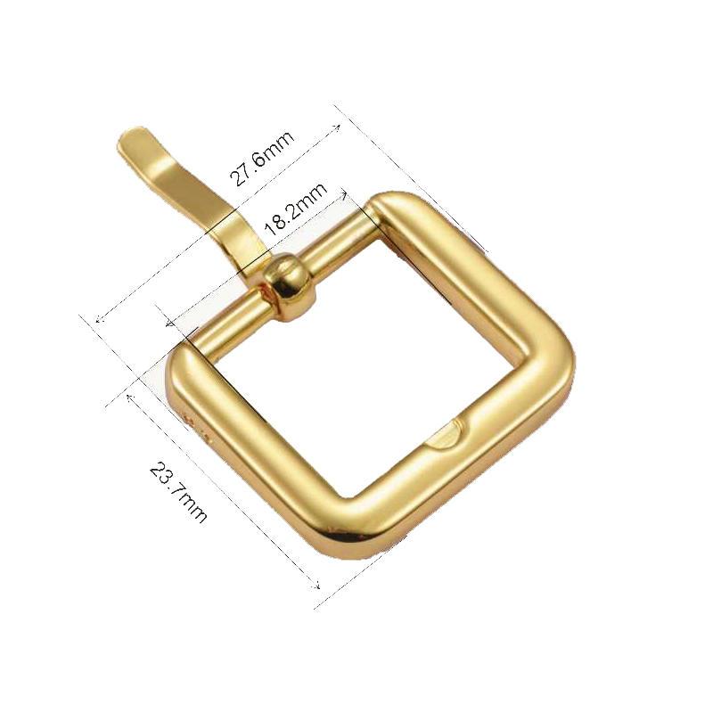 18.2mm*14mm Gold environmental Pink Buckle for high-end handbag