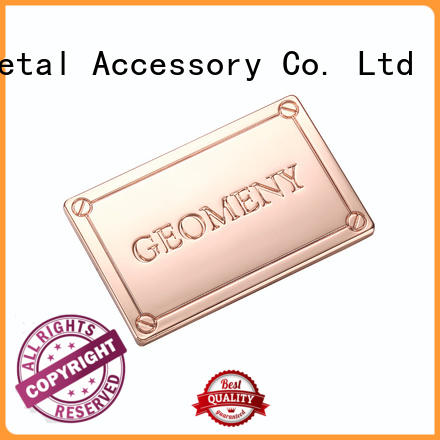 MYJOY Best metal logo plates for handbags Suppliers for trader
