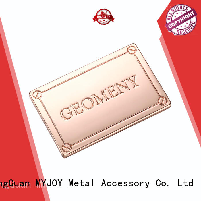 MYJOY High-quality handbag logo plates Supply for bags