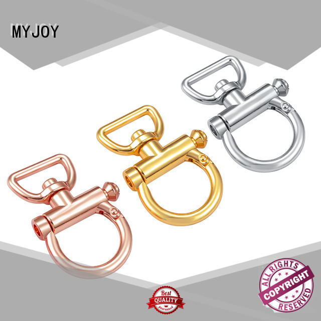 black brass swivel snap hook cheap for high-end bag MYJOY