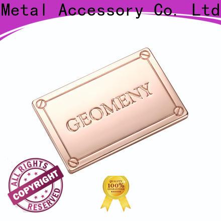 MYJOY High-quality handbag logo metal plate Suppliers for purses