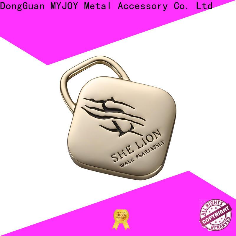 MYJOY alloy handbag logo plates manufacturers for trader