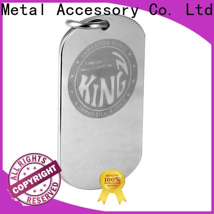 MYJOY Wholesale metal logo plates for handbags Supply for bags