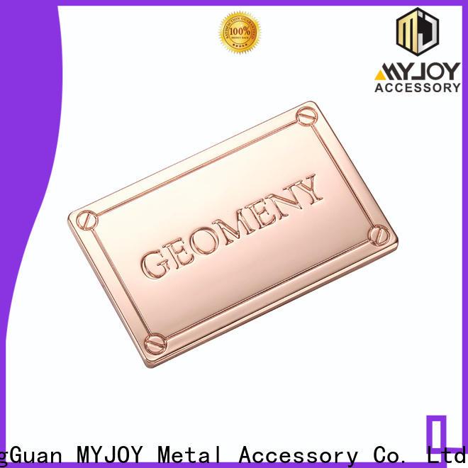 MYJOY laser handbag labels company for trader