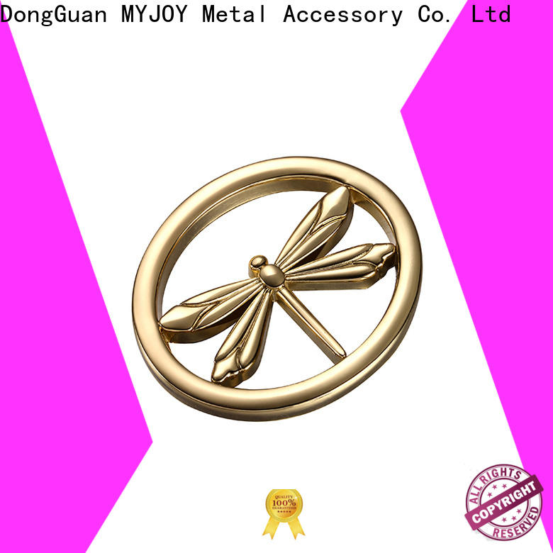 MYJOY New metal logo plates for handbags company for purses