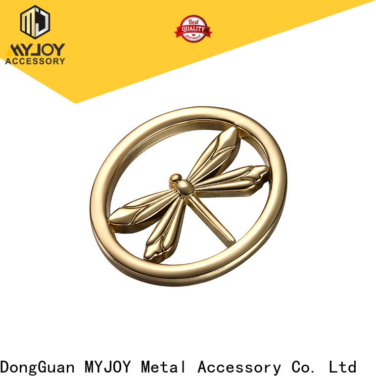 MYJOY decorative handbag logo metal plate manufacturers for bags