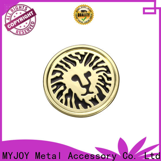 MYJOY highend metal logo plates for handbags for business for trader