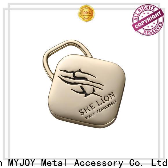 MYJOY gun handbag logo metal plate Suppliers for trader