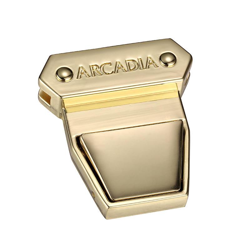 Gold customized LOGO Tuk Locks for handbag