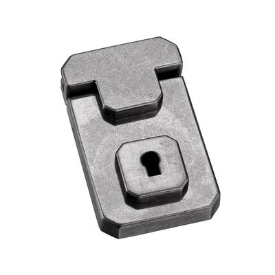 Nickle British style key lock for briefcase