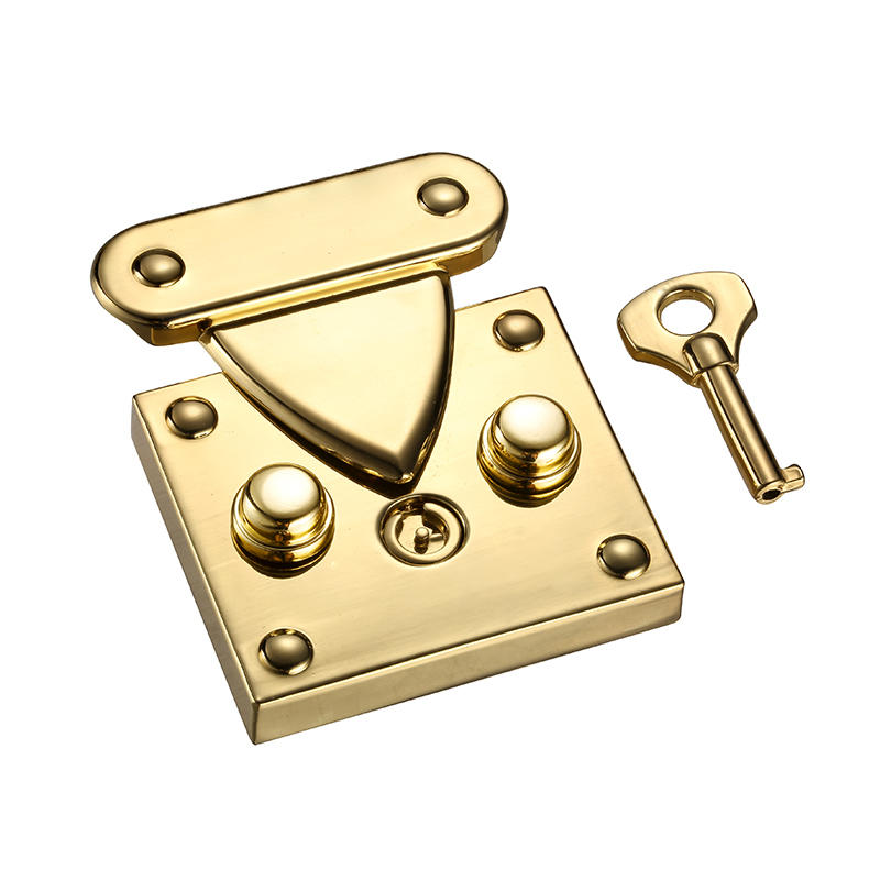Gold escutcheon key lock for handbag