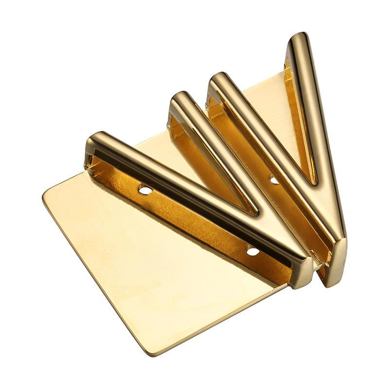Gold vogue men's belt buckle