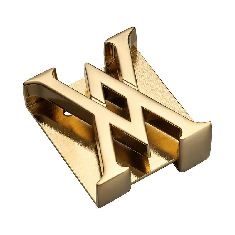 Gold customized Logo men's strap buckle