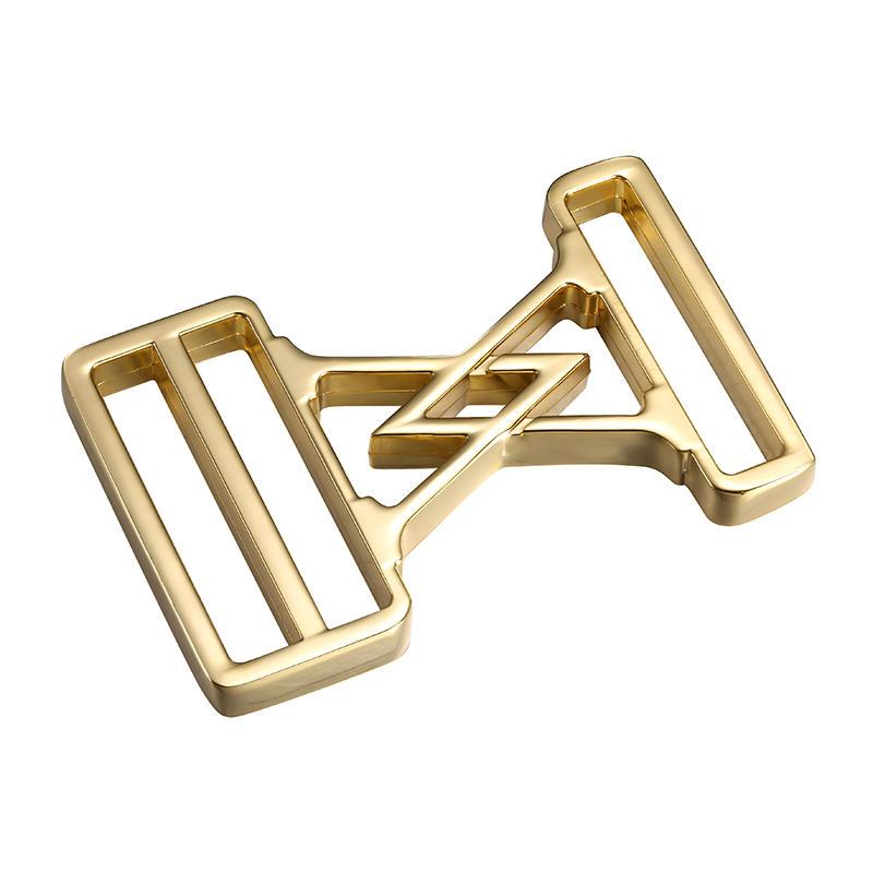 Gold Bold design men 's strap buckle
