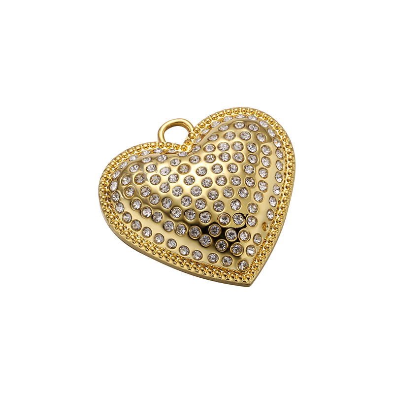 Gold love form  Beads and zinc alloy label