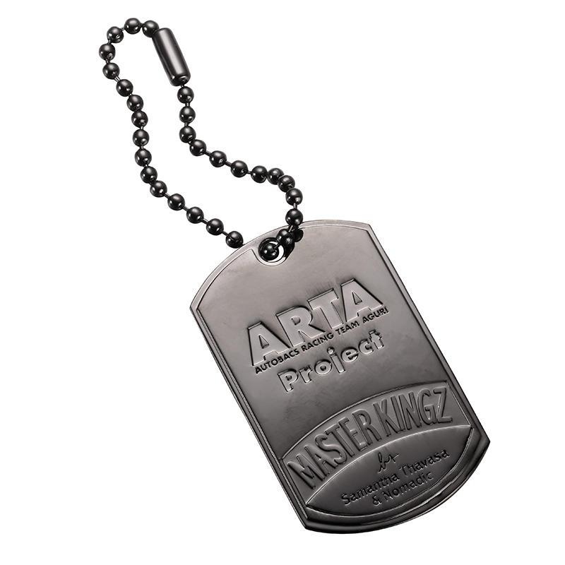 Gun Metal Zinc alloy contracted label