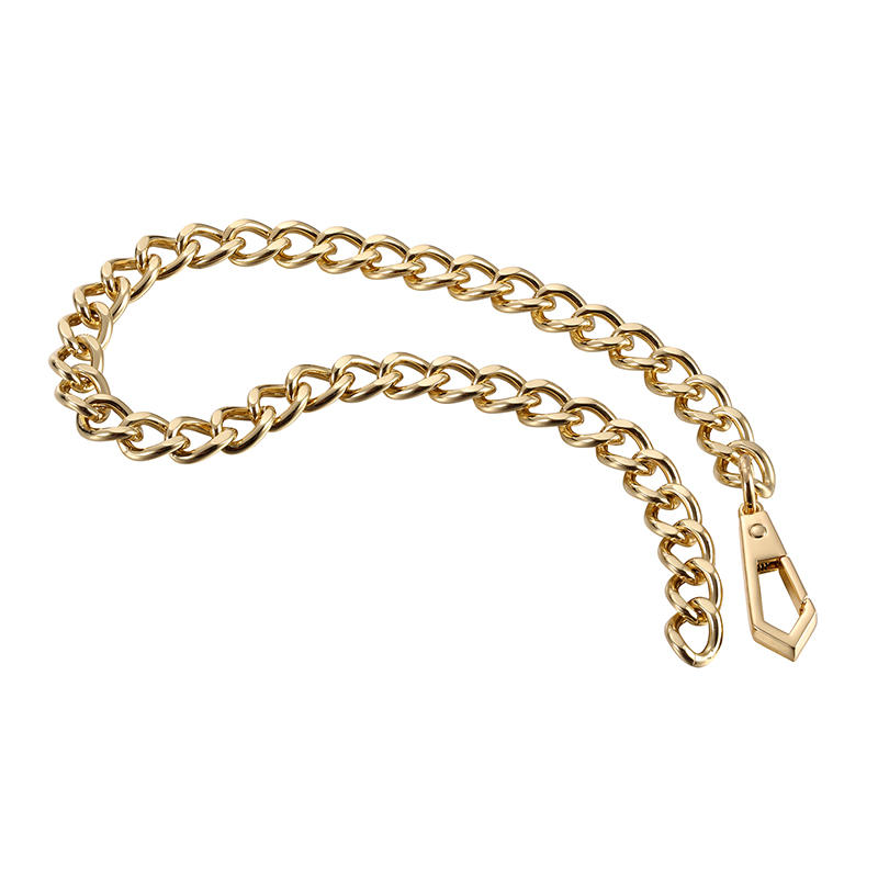 35 cm Gold Zinc alloy Vogue handbag chain