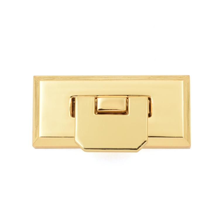 Personalized Metal Oval Twist Handbag Lock Flap Purse Gold Lock hardware