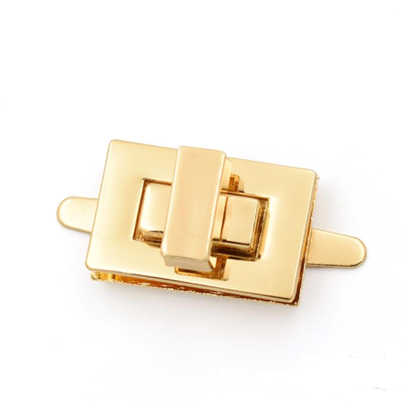High Quality Custom Rectangle Nickel Metal Turn lock