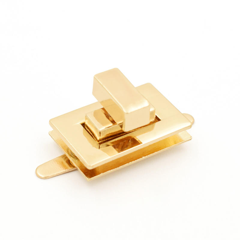 High Quality Custom Rectangle Nickel Metal Turn lock