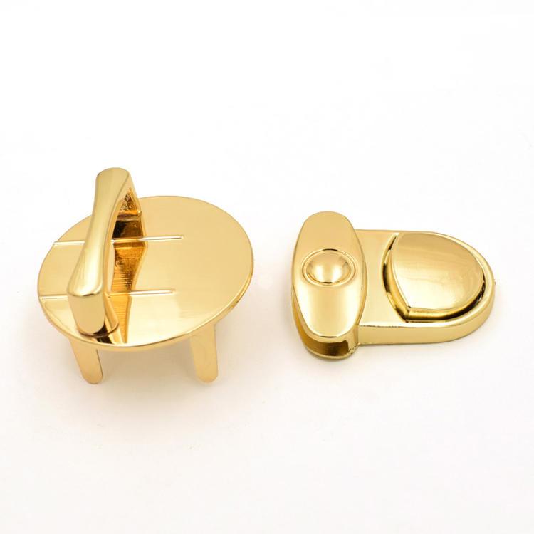 Briefcase hardware metal push lock for handbag