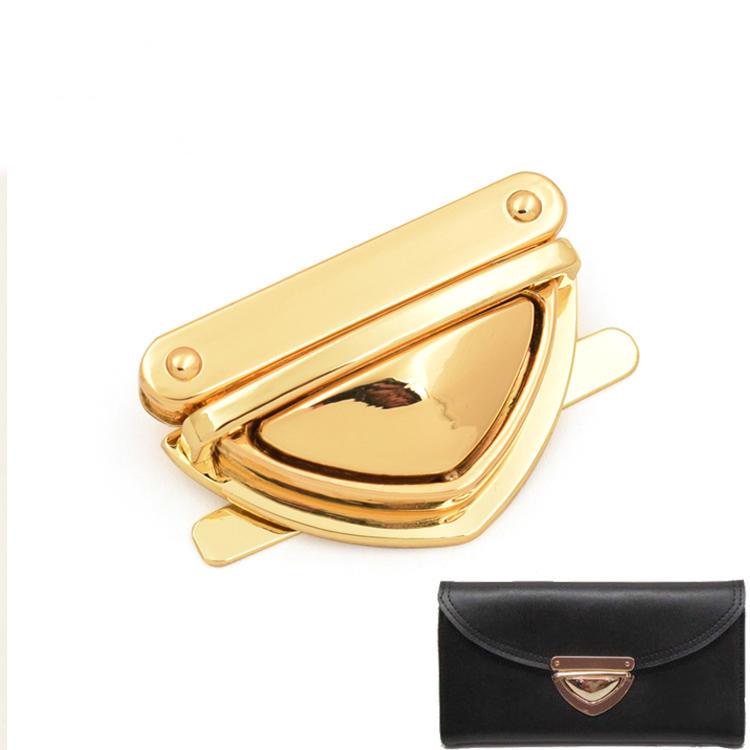 Metal leather bag lock push locks for handbags