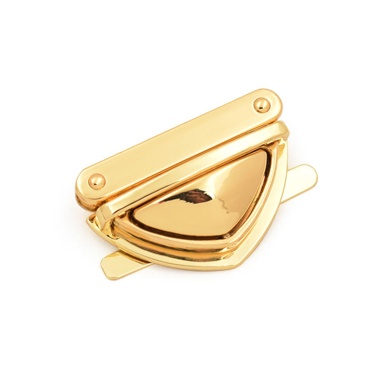 Metal leather bag lock push locks for handbags