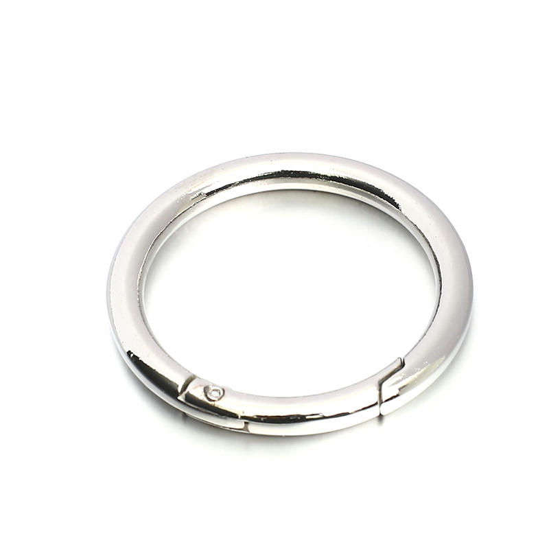 High Quality Open Spring Diameter 50 mm* 7 mm Silver Metal O Ring Clips For handbag metal accessories