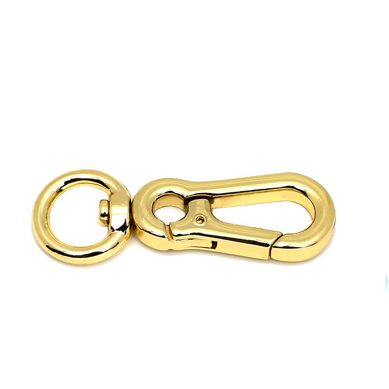 Industrial high quality hanger clip hook  light gold trigger snap hook