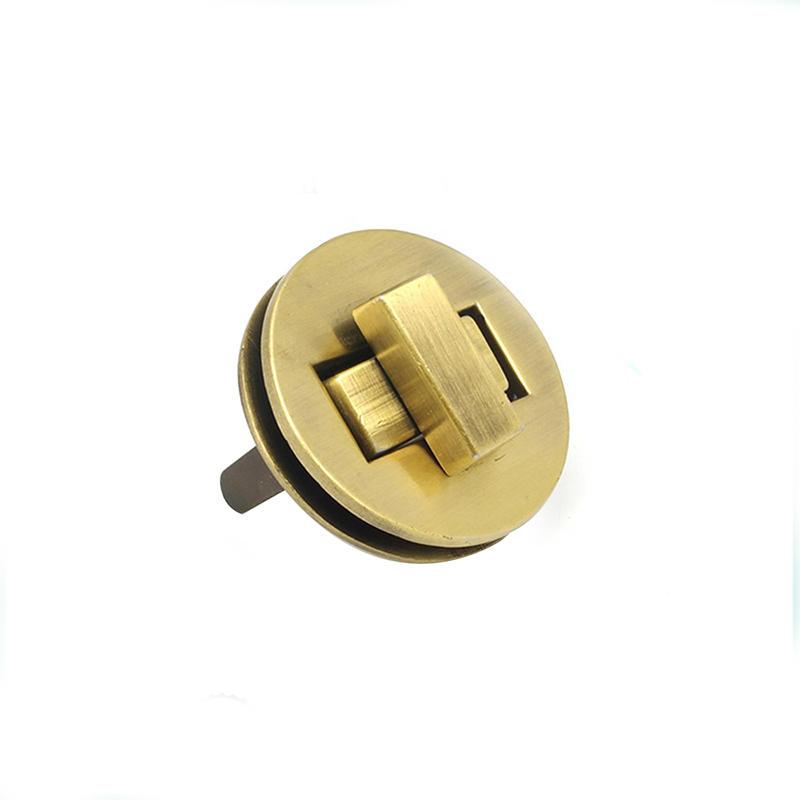 fashion light gold color bag hardware handbag lock