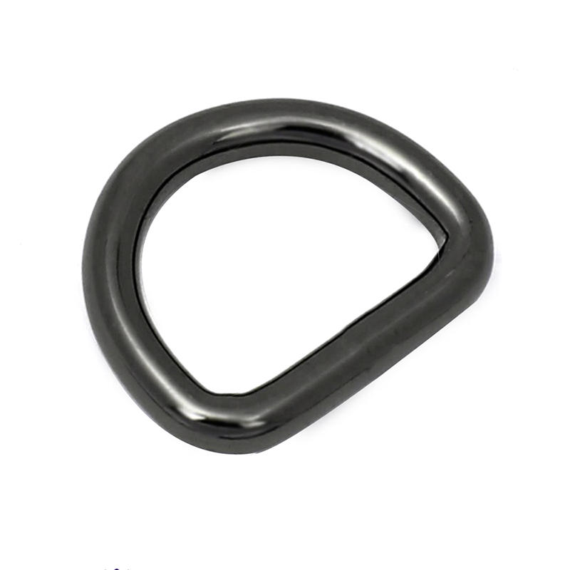 18 mm *27 mm Zinc alloy fashion Gun Metal D ring for handbag