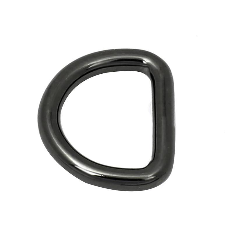 18 mm *27 mm Zinc alloy fashion Gun Metal D ring for handbag