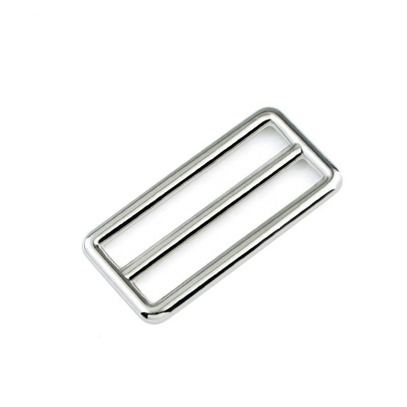 Bag Hardware Adjustable Zinc Alloy Polished  40 mm Metal Buckle For Leather Bag