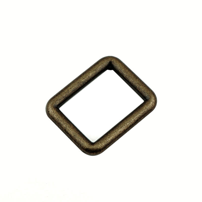 31 mm * 26 mm Antique Gold Zinc alloy Square Ring Buckle