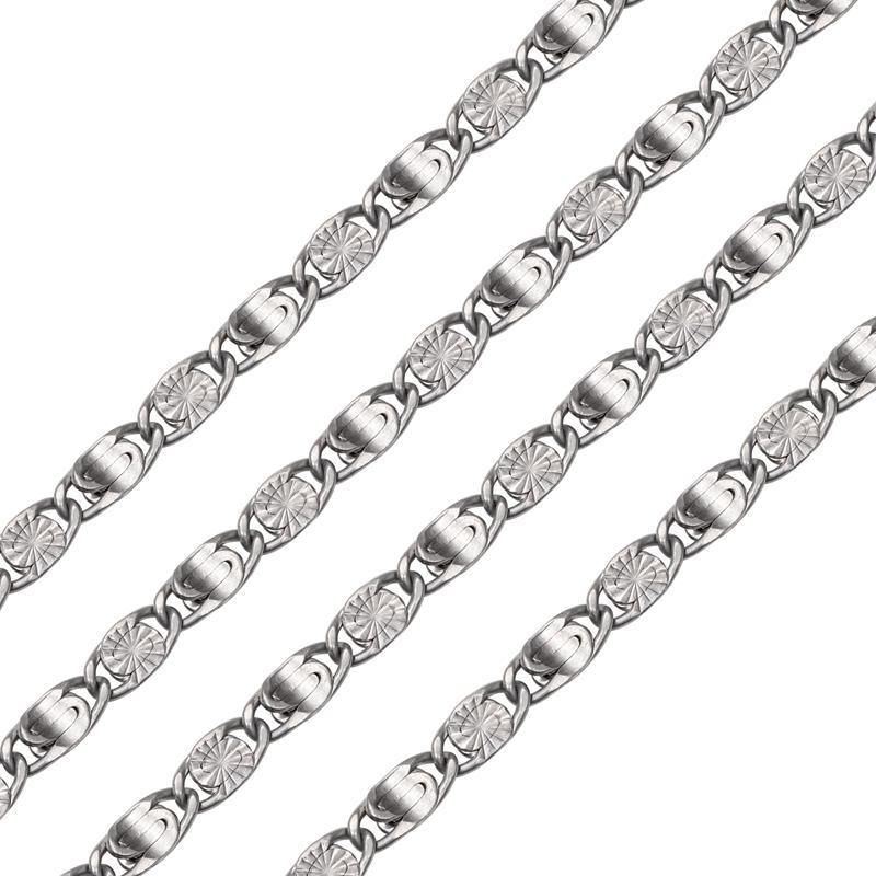 Nickle 5 mm Embryo chain for handbag