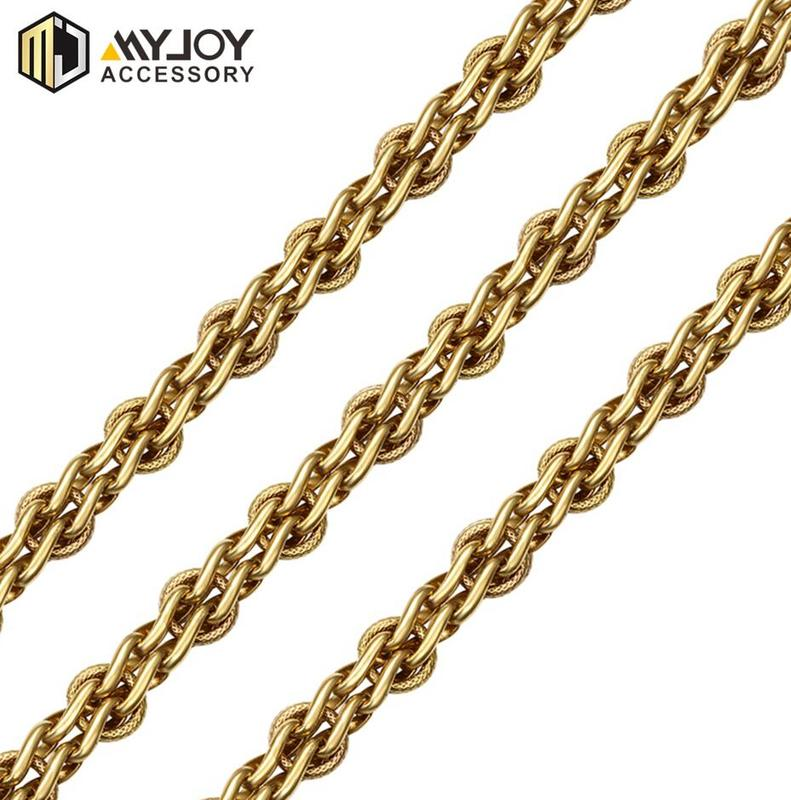 custom metal chain dog collar  twist chain  in brass & aluminum & stainless steel material metal accessories factory
