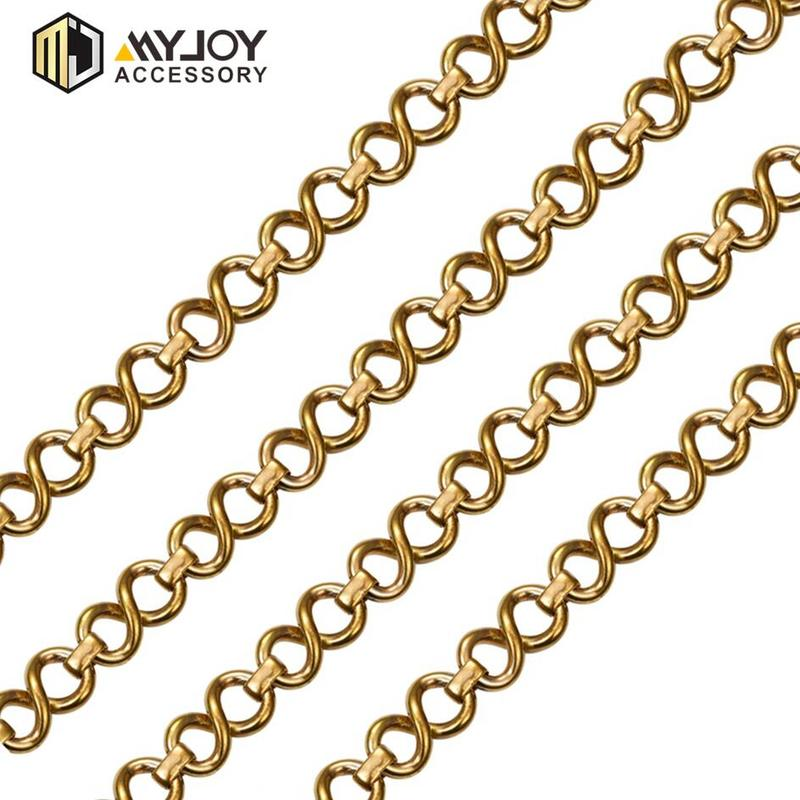 metal chains for bags  Corn Chain  in brass & aluminum & stainless steel material metal accessories factory