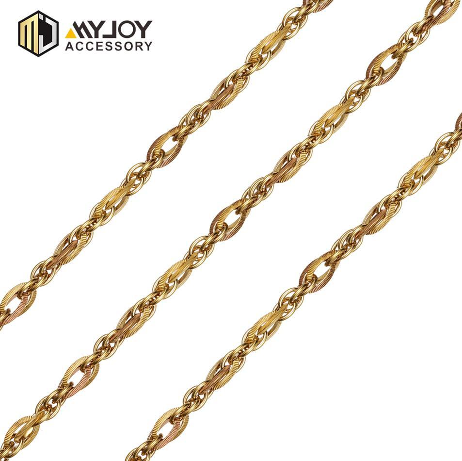 alloy metal gold colour chains    in brass & aluminum & stainless steel material metal accessories factory