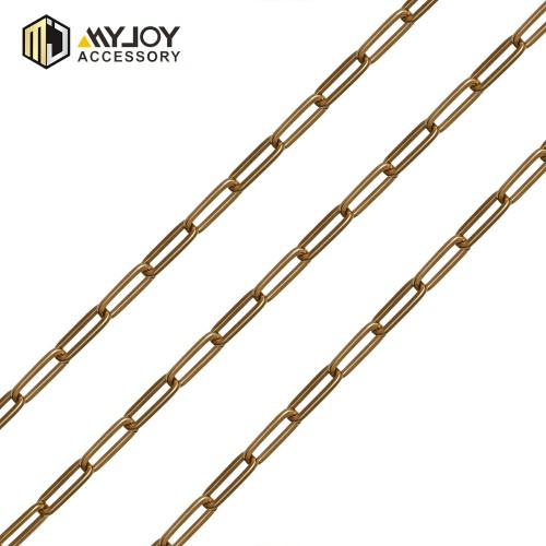 metal round metal chain  in brass Myjoy