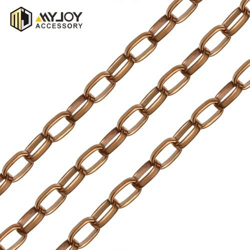 Egg Shape chain in brass material  Myjoy