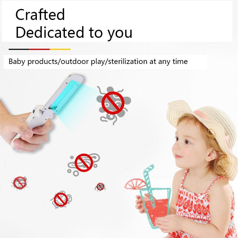 USB Portable UVC Sterilization Stick Disinfection Rod Personal Care Traveling Sterilizer UV Sanitizer Light Cold Cathode UV Lamp