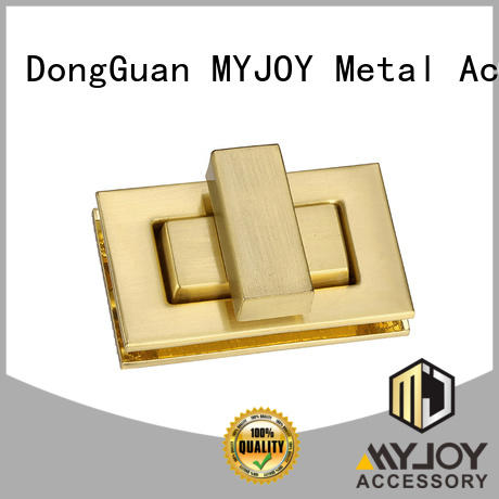MYJOY leather twist turn lock manufacturers for bags