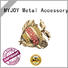 rose gold handbag logo plates OEM for bags MYJOY