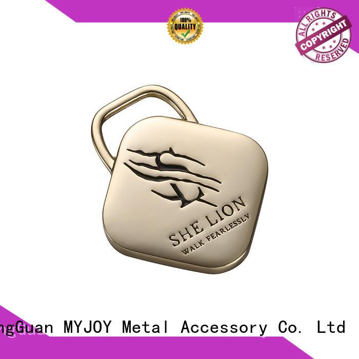 MYJOY alloy handbag labels OEM for trader