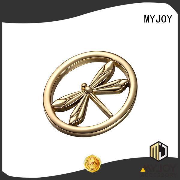 customized custom metal logo plates for handbags special shape for bags MYJOY