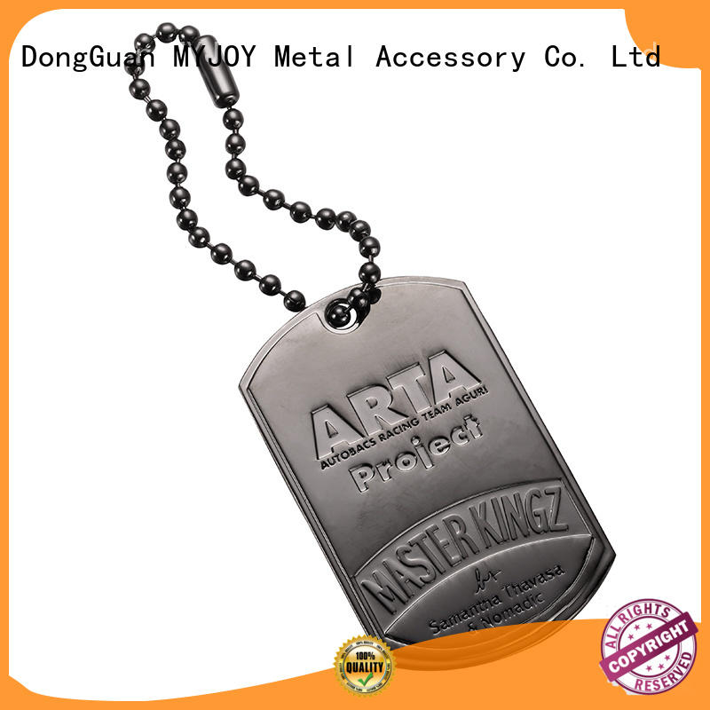 MYJOY alloy bag labels company for trader