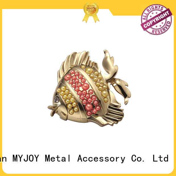 MYJOY customized metal logo plates for handbags Suppliers for bags