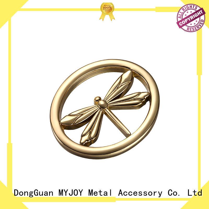 MYJOY be handbag logo metal plate supply for bags